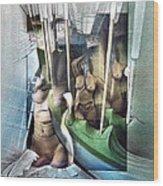 #31 Verticalnudecomp 2003 Wood Print by Glenn Bautista