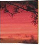 31oct2012 Sunset Nine Wood Print