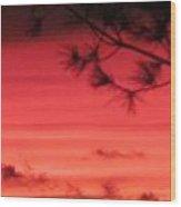 31oct2012 Sunset Seven Hazy Wood Print