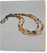 3514 Citrine Double Strand Necklace Wood Print
