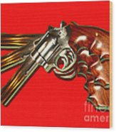 357 Magnum - Painterly - Red Wood Print