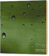 Drops Wood Print