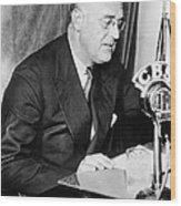 Franklin D. Roosevelt Wood Print