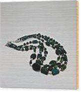 3609 Australian Jasper Triple Strand Necklace Wood Print
