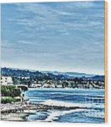 372 Hdr - Sunday At The Beach 1 Wood Print