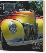 39 Ford Deluxe Hot Rod Wood Print