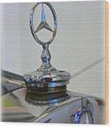 39 Mercedes-benz Emblem Wood Print