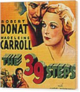 39 Steps, The, Robert Donat, Madeleine Wood Print