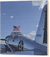 A Bt-13 Valiant Trainer Aircraft Wood Print