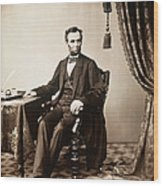 Abraham Lincoln 1809-1865, U.s Wood Print by Everett
