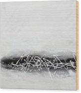 Abstract Black Wood Print