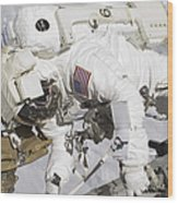 An Astronaut Participates In A Session Wood Print by Stocktrek Images