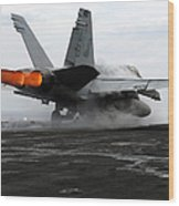 An Fa-18c Hornet Launches Wood Print