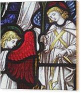 Angels Wood Print