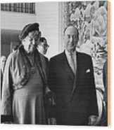 Anna Eleanor Roosevelt Wood Print by Granger