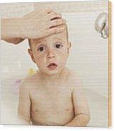 Bathing Child Wood Print by Ian Boddy