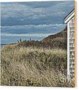 Beach Cottage Wood Print