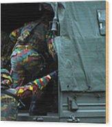 Belgian Paracommandos Entering Wood Print