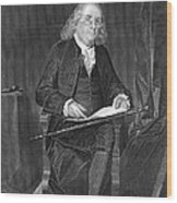 Benjamin Franklin, American Polymath Wood Print