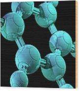 Benzene, Molecular Model Wood Print