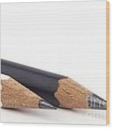 Black And White Pencils Wood Print by Blink Images