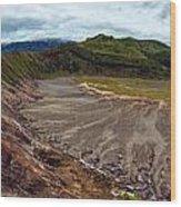 Bromo Crater Wood Print