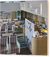 Business Lounge At An Airport Wood Print