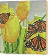 4 Butterflies Wood Print