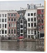 City Scenes From Amsterdam Wood Print