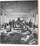 Civil War: Hospital Wood Print