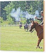 Civil War Reenactment Wood Print