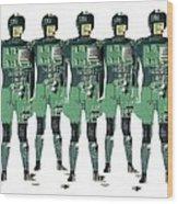 Cybernetics And Robotics Wood Print by Victor De Schwanberg