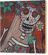 day of the dead BRIDE Wood Print