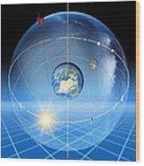 Earth's Rotation, Artwork Wood Print