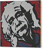 Einstein 2 Wood Print