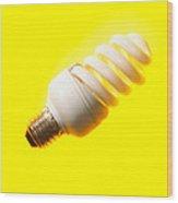 Energy-saving Light Bulb Wood Print