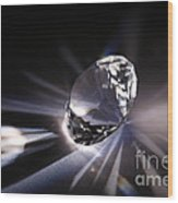 Faceted Quartz Gem Wood Print