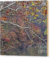 Fall Along West Fork River Wood Print