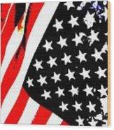 Flag Lady Wood Print