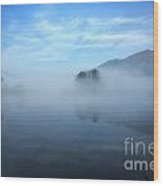 Foggy Lake Wood Print
