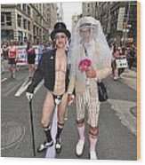 Gay Pride Couples Nyc 2011 Wood Print