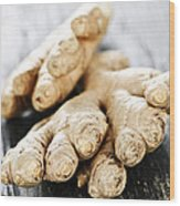 Ginger Root Wood Print