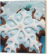 Gingerbread Cookies Wood Print