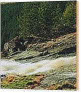 Glenmacnass Waterfall, Co Wicklow Wood Print