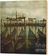 Gondolas. Venice Wood Print