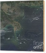 Gulf Oil Spill, April 2010 Wood Print by Nasa