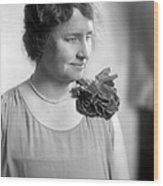 Helen Adams Keller Wood Print