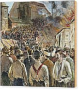 Homestead Strike, 1892 Wood Print by Granger