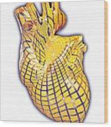 Human Heart, Artwork Wood Print