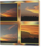 4 In 1 Sunsets Wood Print